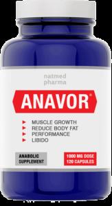бутилка за хапчета за мускули Анавор
